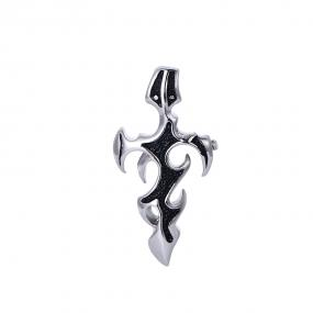 Bo'Bell Stainless Steel Cross Two-Toned Men's Necklace