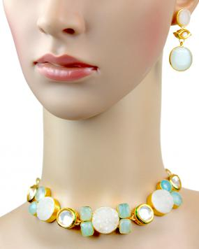 Fionna Azure Necklace Set....