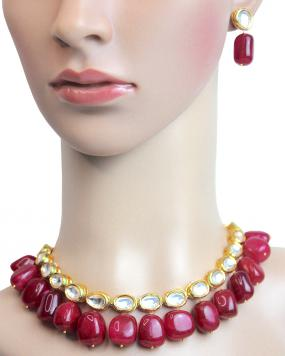 Ruby Rose Necklace Set....