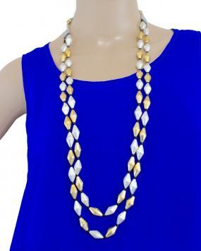 Celie Drum Beads Neckpiece....