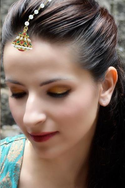 Bo'Bell Indian Ethnic Exotic Maang Tikka/MULTI