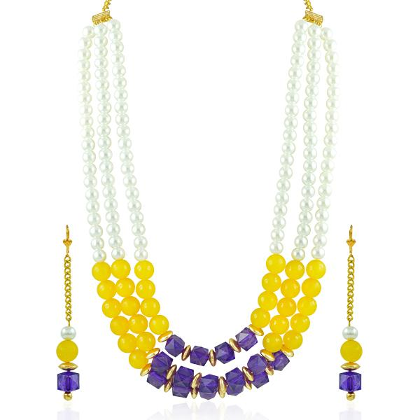Bo'Bell Fusion Beads Chic Fashion Bollywood Necklace Set