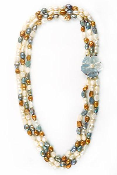 Earthy Colored Freshwater Pearl Necklace