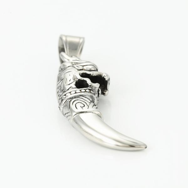 Stainless Steel Slash Lion Pendant