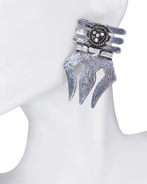 Trisula Grey Earring
