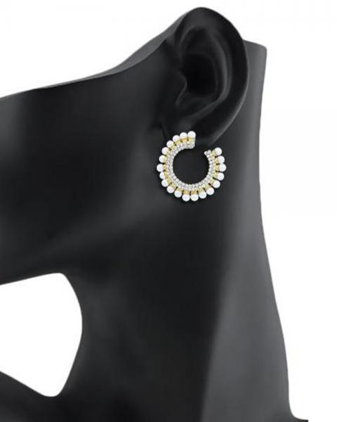 Bo'Bell Elegant Beauty Flirty AD Hoop Earring