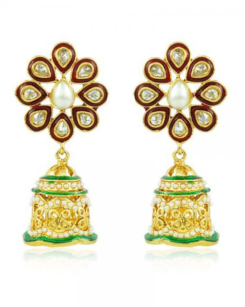 Bo'Bell Graceful Pompon Designer Earring