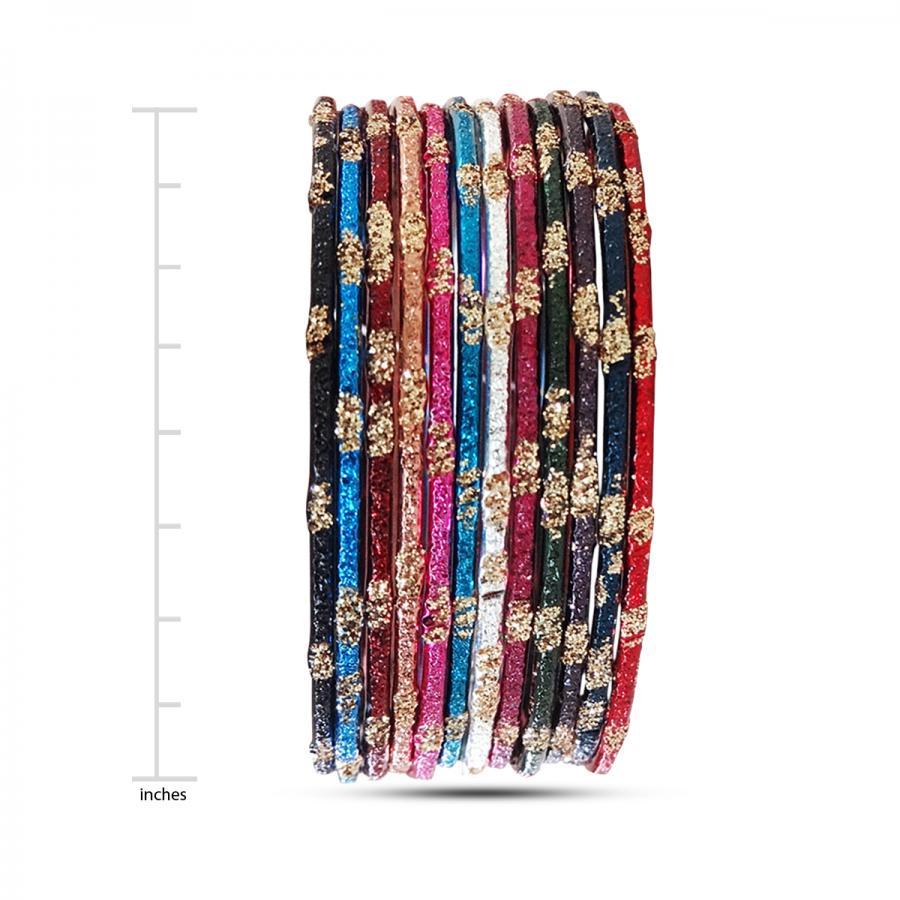 BO'BELL Beautiful Multicolour Bangles (MultiColor)