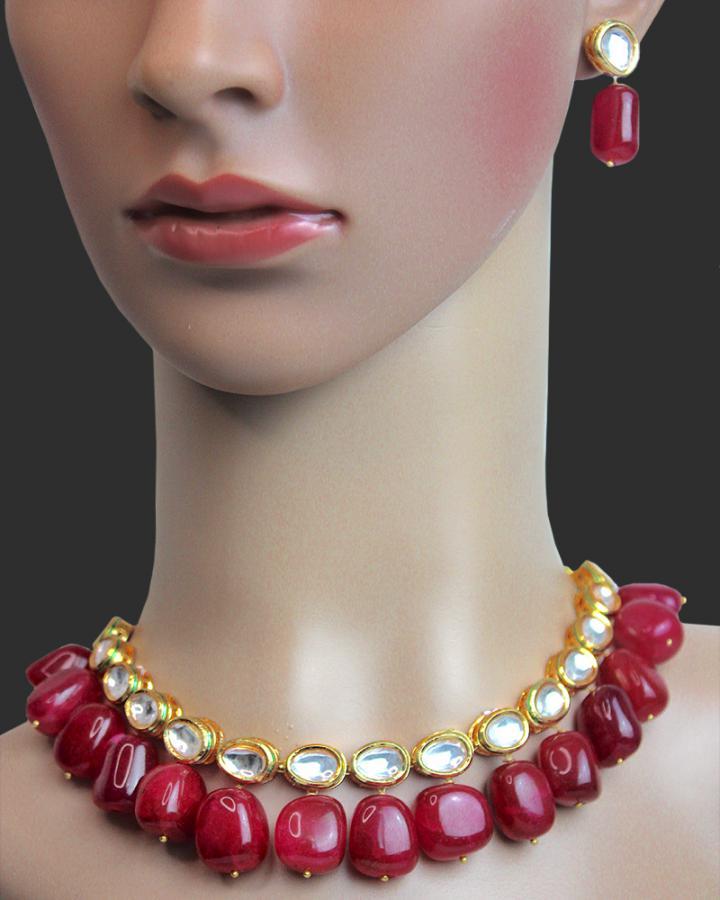 Ruby Rose Necklace Set