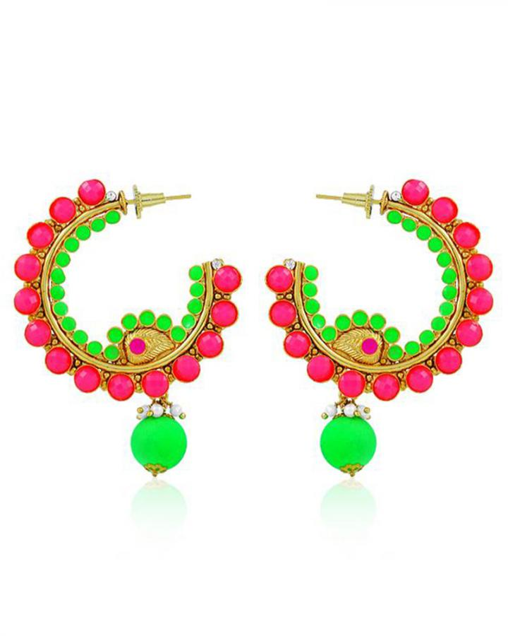 Bo'Bell Exquisite Neon Beautiful Designer Earring/MULTI