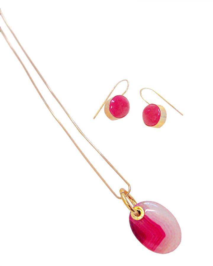 Azalea Pink Pendant Set