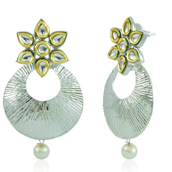 Bo'Bell Indian Jaipuri Floral Bolly Earring/SILVER