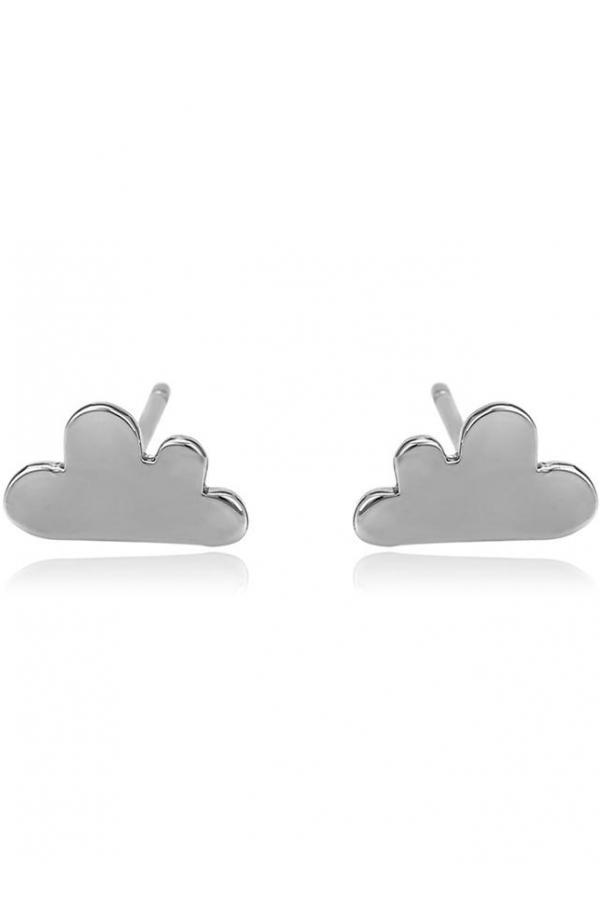 Bo'Bell Tiny Cute Cloudy Sterling Silver Tops/SILVER