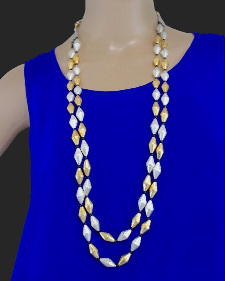 Celie Drum Beads Neckpiece