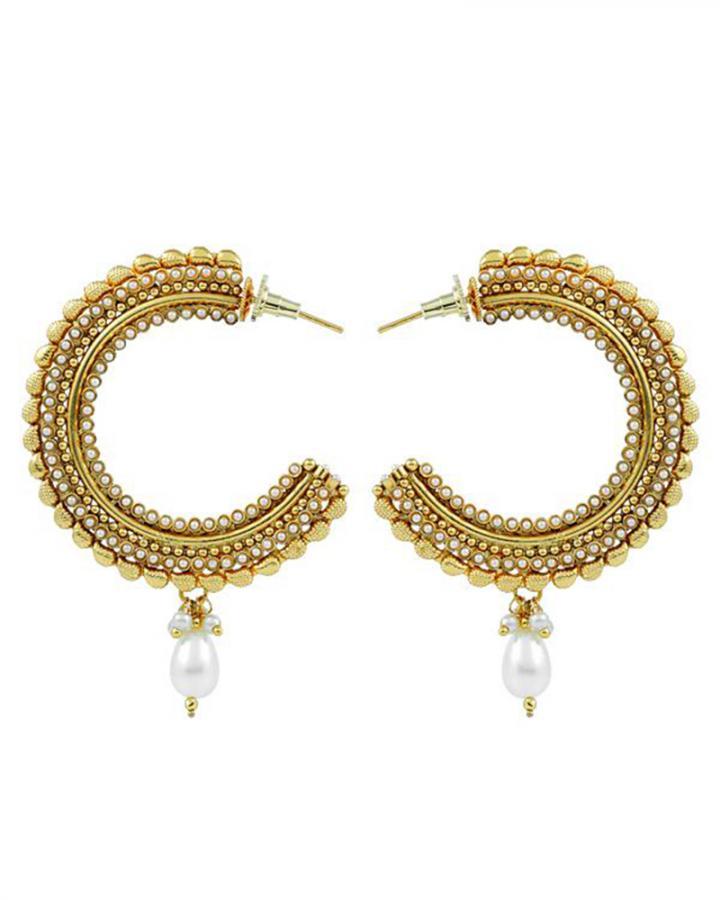 Bo'Bell Flawless Attractive Designer Earring/WHITE