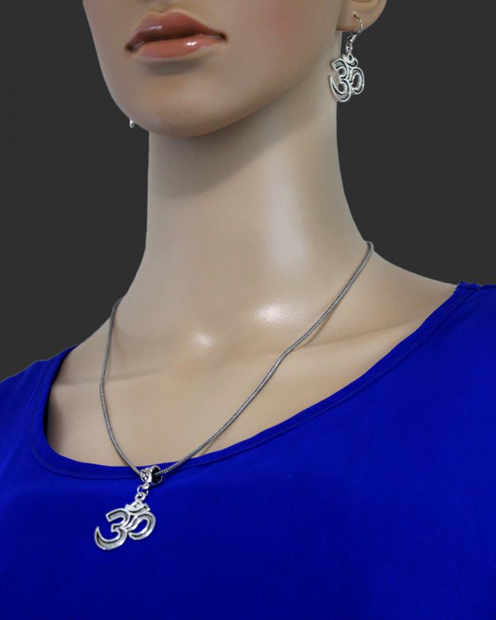 OM Shivay Pendant Set